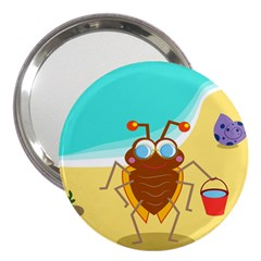 Animal Nature Cartoon Bug Insect 3  Handbag Mirrors