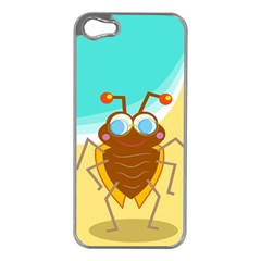 Animal Nature Cartoon Bug Insect Apple Iphone 5 Case (silver)