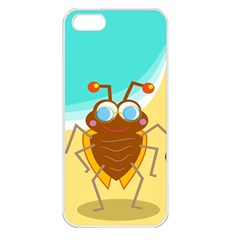 Animal Nature Cartoon Bug Insect Apple Iphone 5 Seamless Case (white)