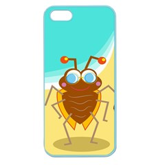 Animal Nature Cartoon Bug Insect Apple Seamless Iphone 5 Case (color)