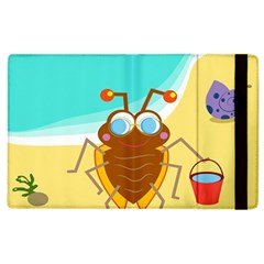 Animal Nature Cartoon Bug Insect Apple Ipad 3/4 Flip Case
