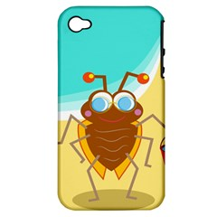 Animal Nature Cartoon Bug Insect Apple Iphone 4/4s Hardshell Case (pc+silicone)