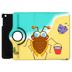 Animal Nature Cartoon Bug Insect Apple Ipad Mini Flip 360 Case