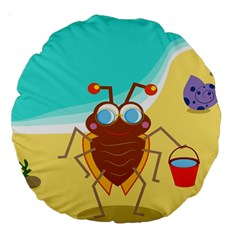 Animal Nature Cartoon Bug Insect Large 18  Premium Round Cushions