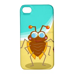 Animal Nature Cartoon Bug Insect Apple Iphone 4/4s Hardshell Case With Stand
