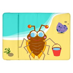 Animal Nature Cartoon Bug Insect Samsung Galaxy Tab 8 9  P7300 Flip Case