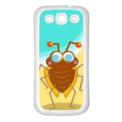 Animal Nature Cartoon Bug Insect Samsung Galaxy S3 Back Case (white)