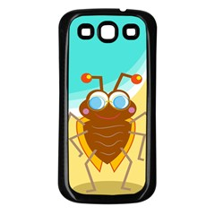 Animal Nature Cartoon Bug Insect Samsung Galaxy S3 Back Case (black)