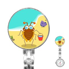 Animal Nature Cartoon Bug Insect Stainless Steel Nurses Watch