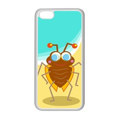 Animal Nature Cartoon Bug Insect Apple Iphone 5c Seamless Case (white)