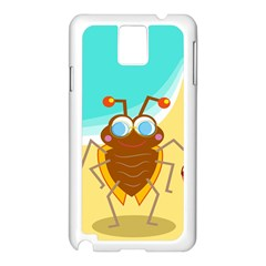 Animal Nature Cartoon Bug Insect Samsung Galaxy Note 3 N9005 Case (white)