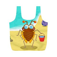Animal Nature Cartoon Bug Insect Full Print Recycle Bags (m)