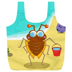 Animal Nature Cartoon Bug Insect Full Print Recycle Bags (l)