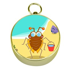 Animal Nature Cartoon Bug Insect Gold Compasses