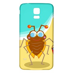 Animal Nature Cartoon Bug Insect Samsung Galaxy S5 Back Case (white)