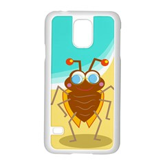 Animal Nature Cartoon Bug Insect Samsung Galaxy S5 Case (white)
