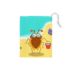Animal Nature Cartoon Bug Insect Drawstring Pouches (small)