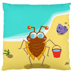 Animal Nature Cartoon Bug Insect Large Flano Cushion Case (one Side)