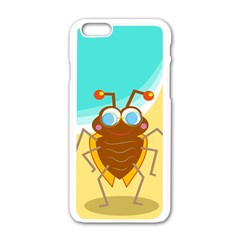 Animal Nature Cartoon Bug Insect Apple Iphone 6/6s White Enamel Case