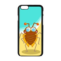 Animal Nature Cartoon Bug Insect Apple Iphone 6/6s Black Enamel Case