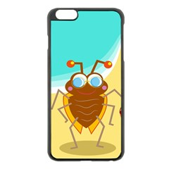 Animal Nature Cartoon Bug Insect Apple Iphone 6 Plus/6s Plus Black Enamel Case