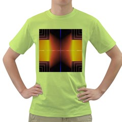 Abstract Painting Green T Shirt