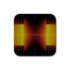 Abstract Painting Rubber Square Coaster (4 Pack)  by Nexatart