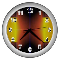 Abstract Painting Wall Clocks (silver)  by Nexatart