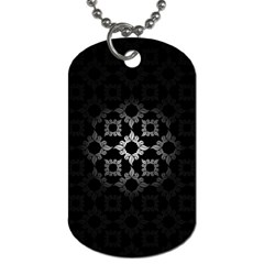 Antique Backdrop Background Baroque Dog Tag (one Side) by Nexatart