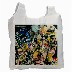 Art Graffiti Abstract Lines Recycle Bag (one Side) by Nexatart
