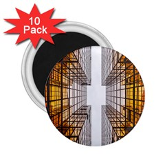 Architecture Facade Buildings Windows 2 25  Magnets (10 Pack)