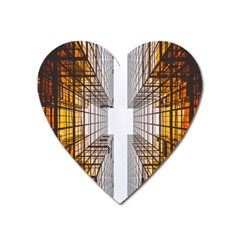 Architecture Facade Buildings Windows Heart Magnet