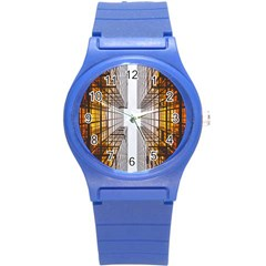 Architecture Facade Buildings Windows Round Plastic Sport Watch (s)