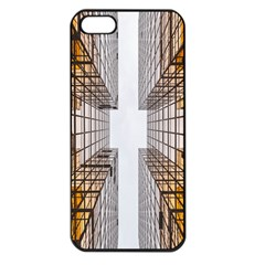 Architecture Facade Buildings Windows Apple Iphone 5 Seamless Case (black)