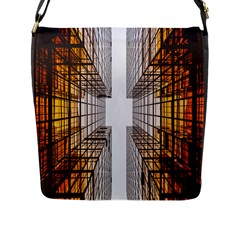 Architecture Facade Buildings Windows Flap Messenger Bag (l)
