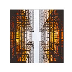 Architecture Facade Buildings Windows Small Satin Scarf (square) by Nexatart