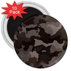Background For Scrapbooking Or Other Camouflage Patterns Beige And Brown 3  Magnets (10 Pack)  by Nexatart