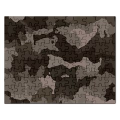 Background For Scrapbooking Or Other Camouflage Patterns Beige And Brown Rectangular Jigsaw Puzzl by Nexatart
