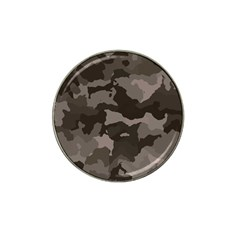 Background For Scrapbooking Or Other Camouflage Patterns Beige And Brown Hat Clip Ball Marker by Nexatart