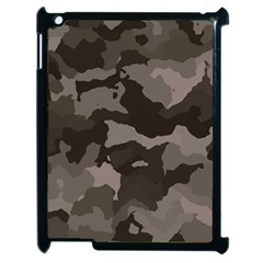Background For Scrapbooking Or Other Camouflage Patterns Beige And Brown Apple Ipad 2 Case (black) by Nexatart