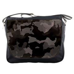 Background For Scrapbooking Or Other Camouflage Patterns Beige And Brown Messenger Bags by Nexatart