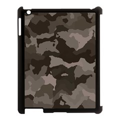 Background For Scrapbooking Or Other Camouflage Patterns Beige And Brown Apple Ipad 3/4 Case (black) by Nexatart