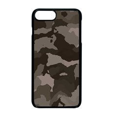 Background For Scrapbooking Or Other Camouflage Patterns Beige And Brown Apple Iphone 7 Plus Seamless Case (black)