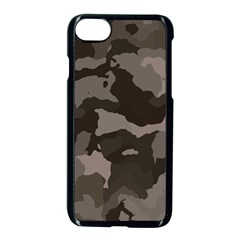 Background For Scrapbooking Or Other Camouflage Patterns Beige And Brown Apple Iphone 7 Seamless Case (black)