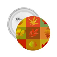 Autumn Leaves Colorful Fall Foliage 2 25  Buttons