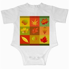 Autumn Leaves Colorful Fall Foliage Infant Creepers