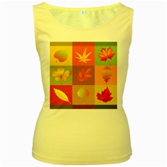 Autumn Leaves Colorful Fall Foliage Women s Yellow Tank Top