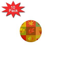 Autumn Leaves Colorful Fall Foliage 1  Mini Buttons (10 Pack)