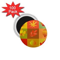Autumn Leaves Colorful Fall Foliage 1 75  Magnets (100 Pack)