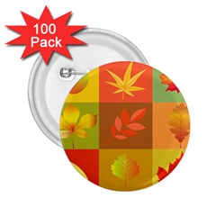 Autumn Leaves Colorful Fall Foliage 2 25  Buttons (100 Pack)  by Nexatart